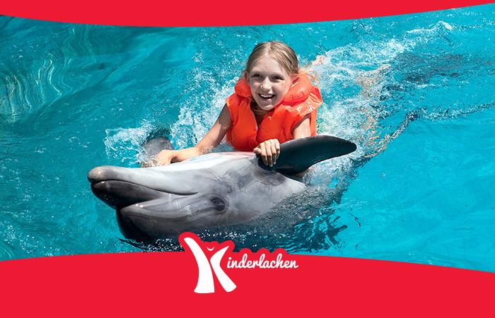 Kinderlachen Delfin Therapie